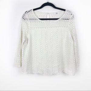 Jack by BB Dakota White Crochet Top